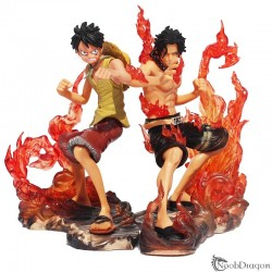 Figura de Luffy Y Ace (One Piece)