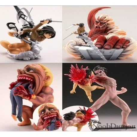 Set de 4 figuras de Attack On Titan