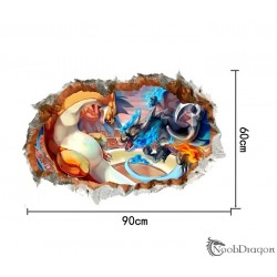 Vinilo de Pokemon efecto 3D Charizard X e Y